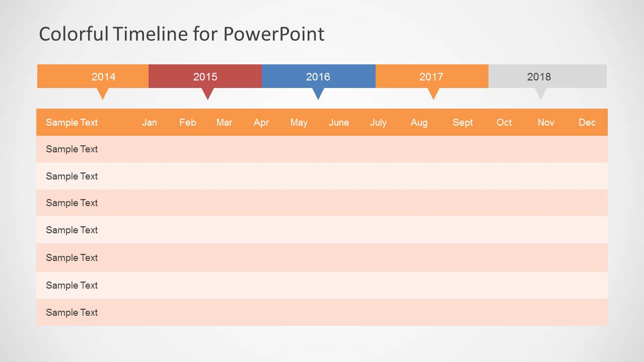 Colorful Timeline Template For Powerpoint Slidemodel