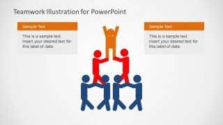 Team Work Pyramid PowerPoint Slide Design Centered
