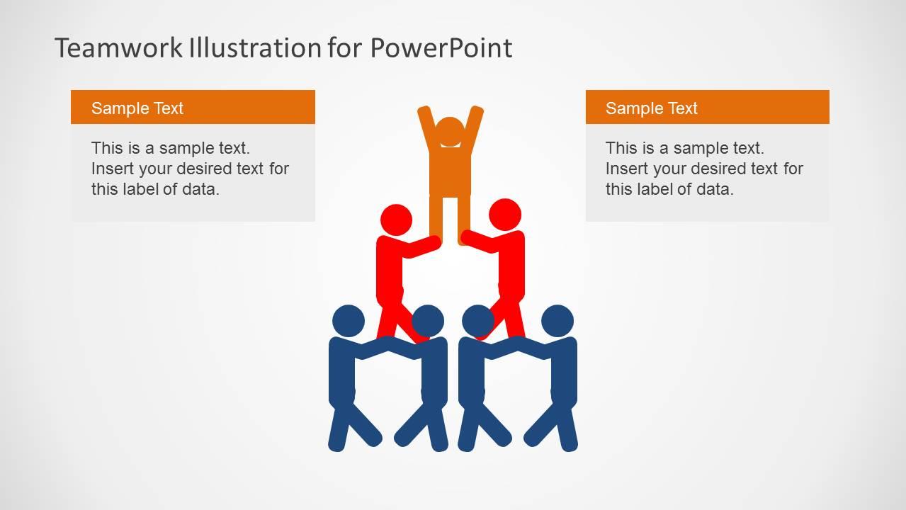 Team Work Pyramid PowerPoint Slide Design Centered