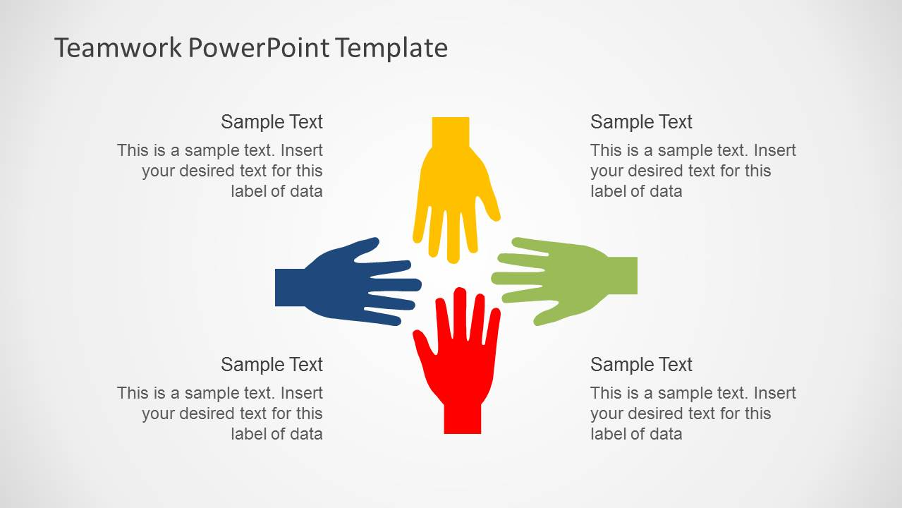 Teamwork PowerPoint Template - SlideModel