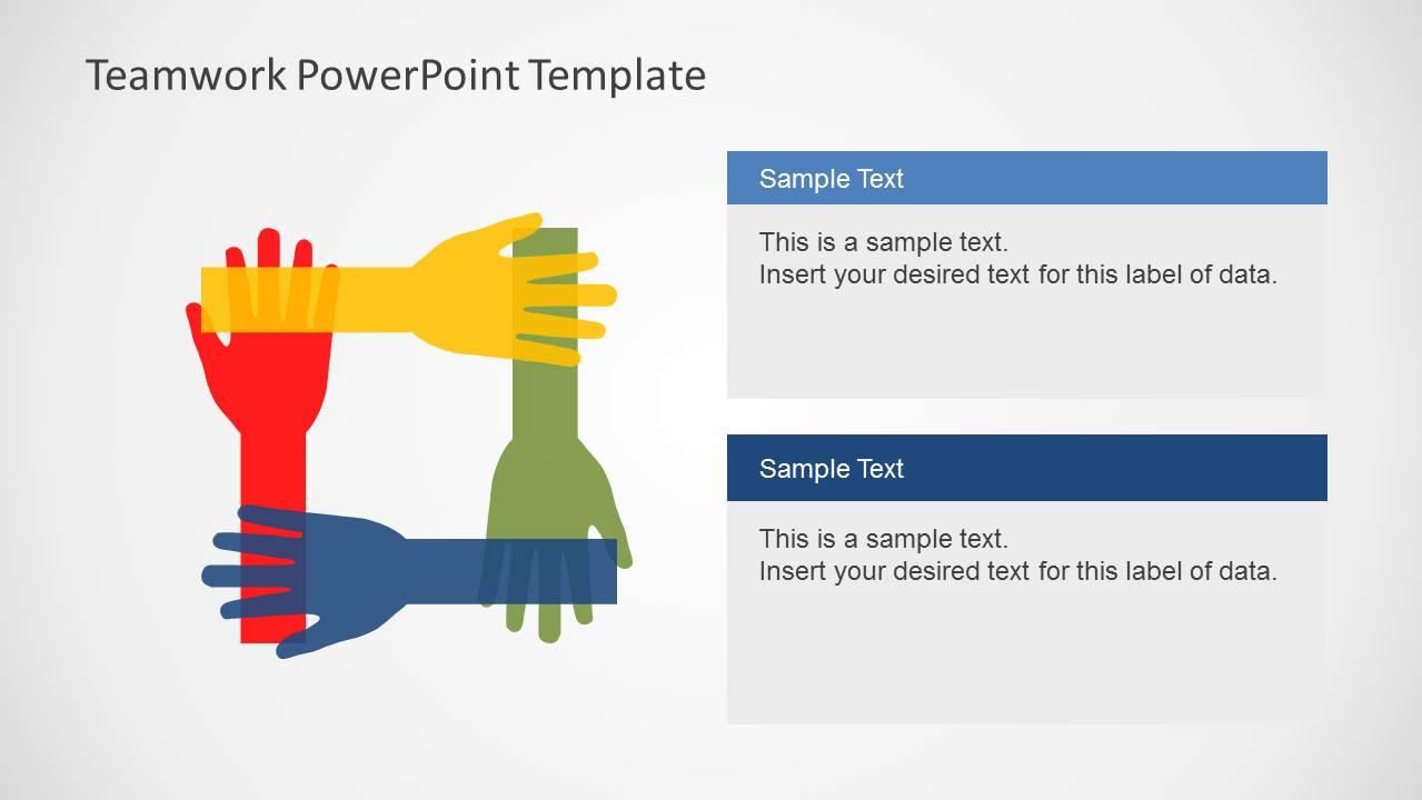 Teamwork PowerPoint Template - SlideModel