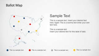 Ballot Network United States Map Template for PowerPoint