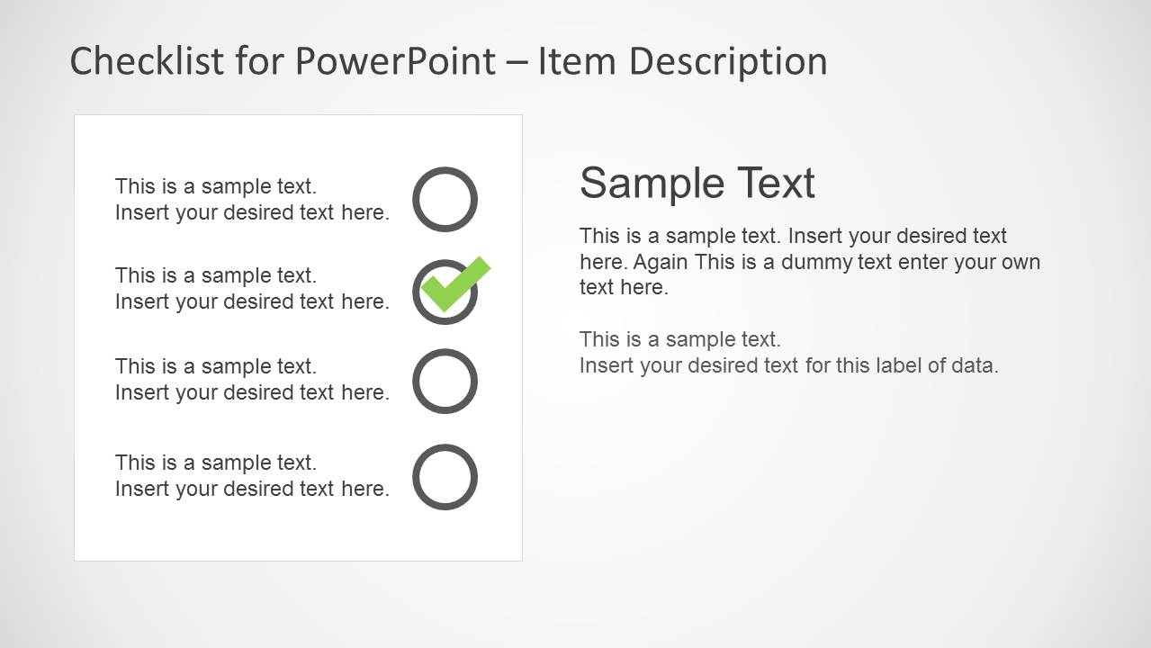 Checklist PowerPoint Slide Design