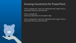 Blue growth investment powerpoint template slidemodel powerpoint template background with piggy bank toneelgroepblik Gallery