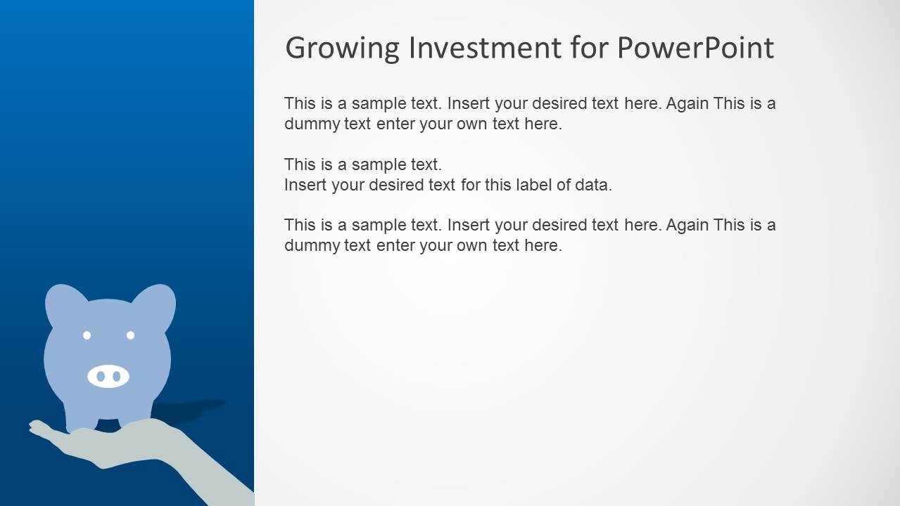 Blue growth investment powerpoint template slidemodel powerpoint piggy bank clipart investment toneelgroepblik Image collections