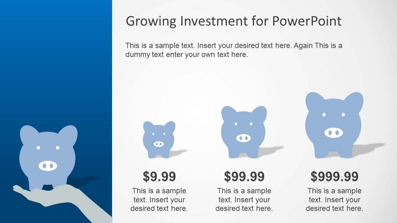 Blue growth investment powerpoint template slidemodel powerpoint chart created with piggy bank clipart alramifo Gallery