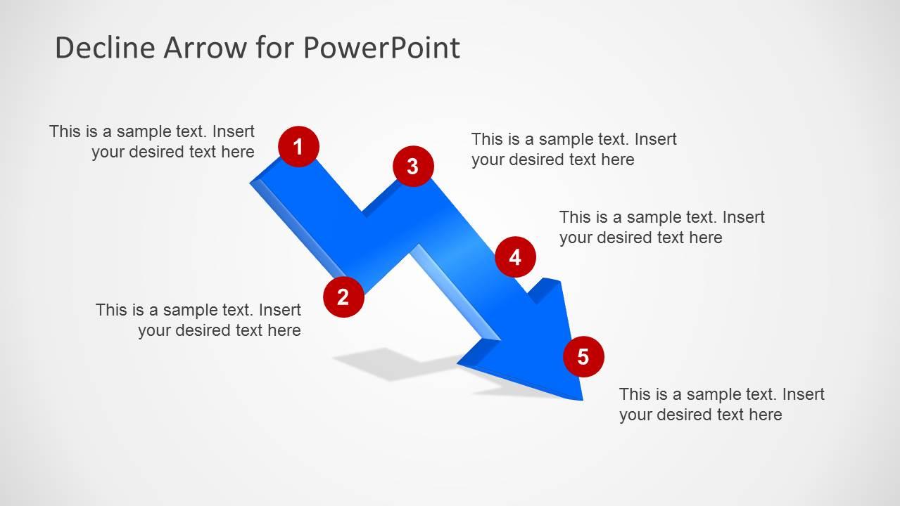 Blue Decline Arrow on Circular Flow Model