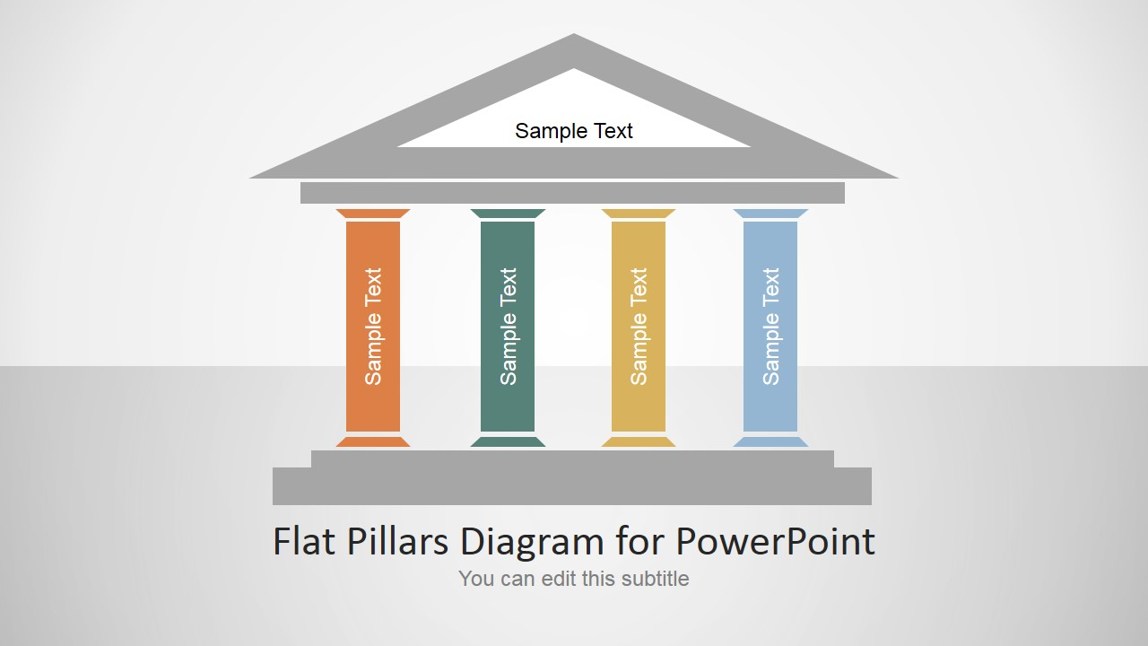 Flat pillars diagram for powerpoint slidemodel slide design of 4 pillars of growth for business ideas toneelgroepblik Choice Image