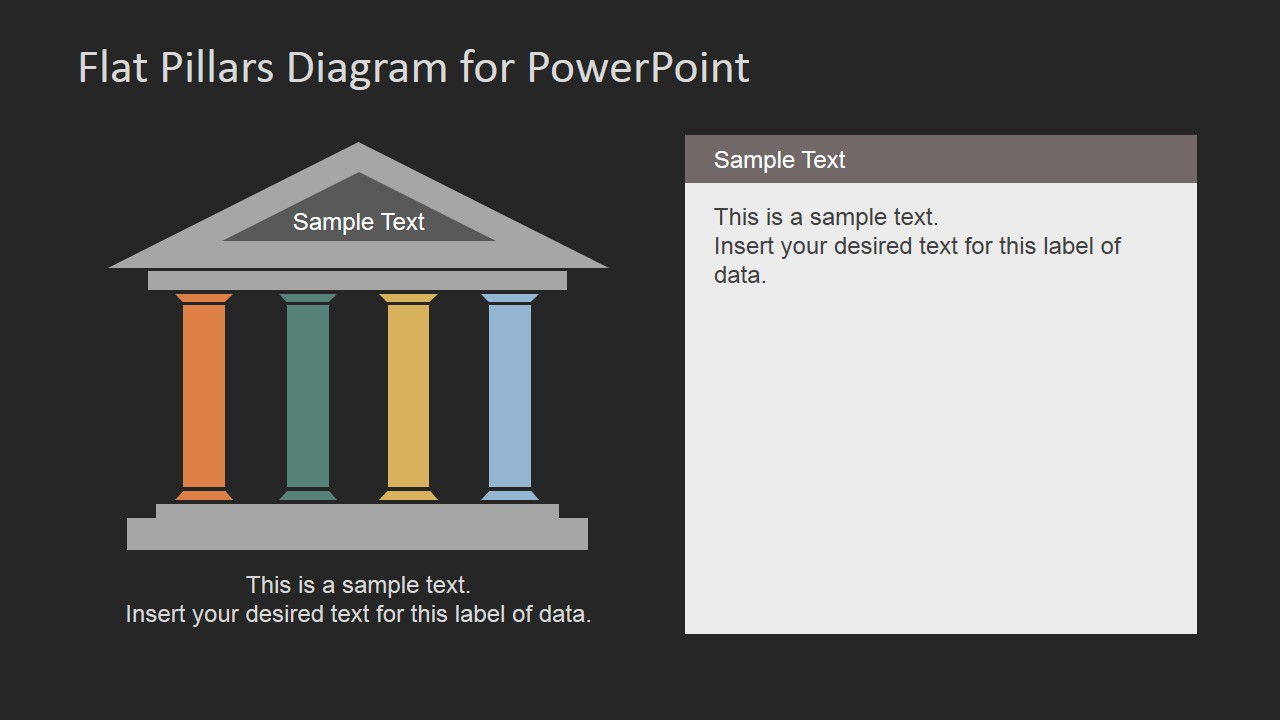 Flat pillars diagram for powerpoint slidemodel business plan template using powerpoint business presentation tips alramifo Image collections