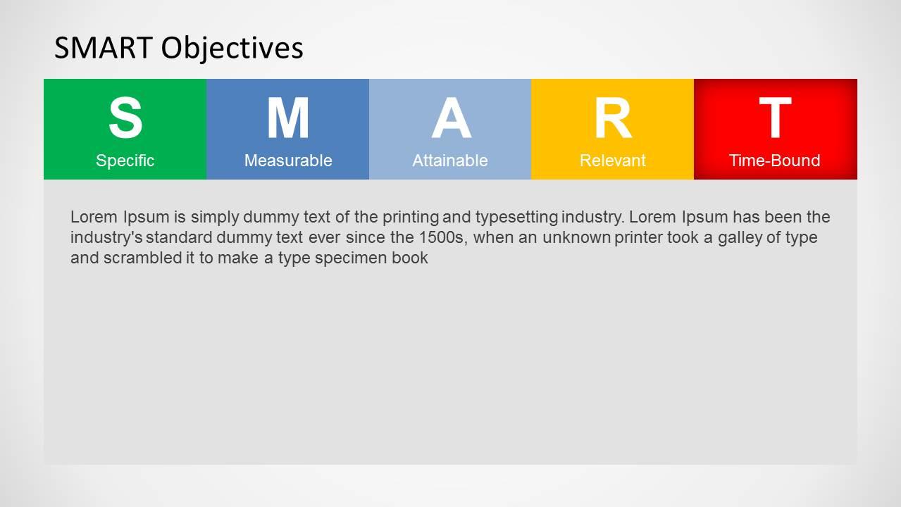 smart objectives slide design for powerpoint slidemodel