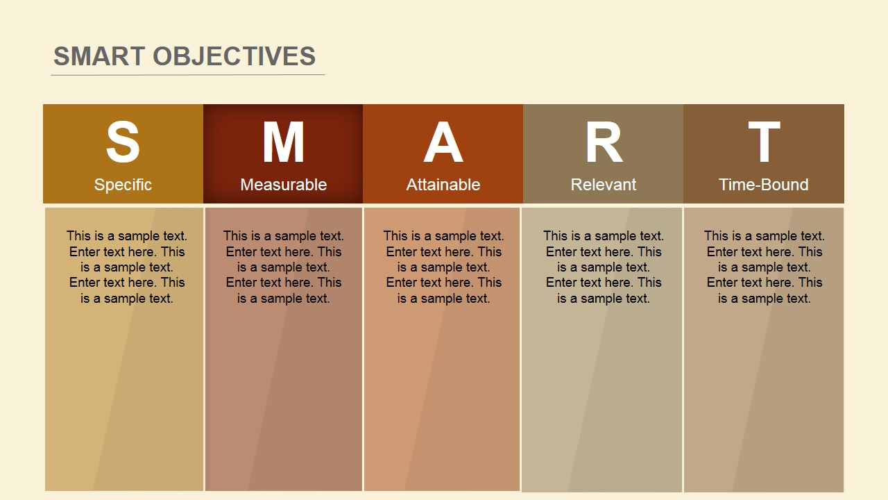 Flat smart objectives powerpoint template slidemodel for Manage by objective template