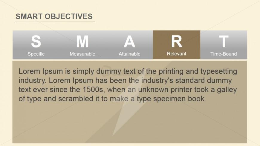 PowerPoint Slide of Relevant Criterion SMART Objectives