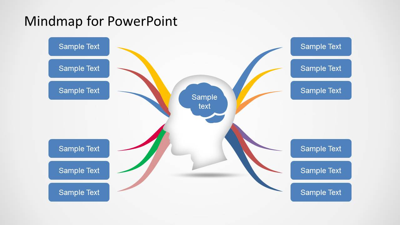 mind map diagram template for powerpoint - slidemodel, Modern powerpoint