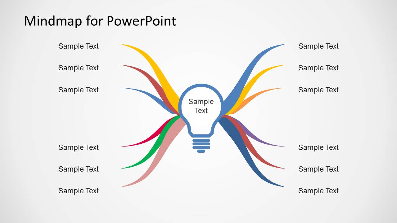 Mind map diagram template for powerpoint slidemodel for Mind map template powerpoint free download