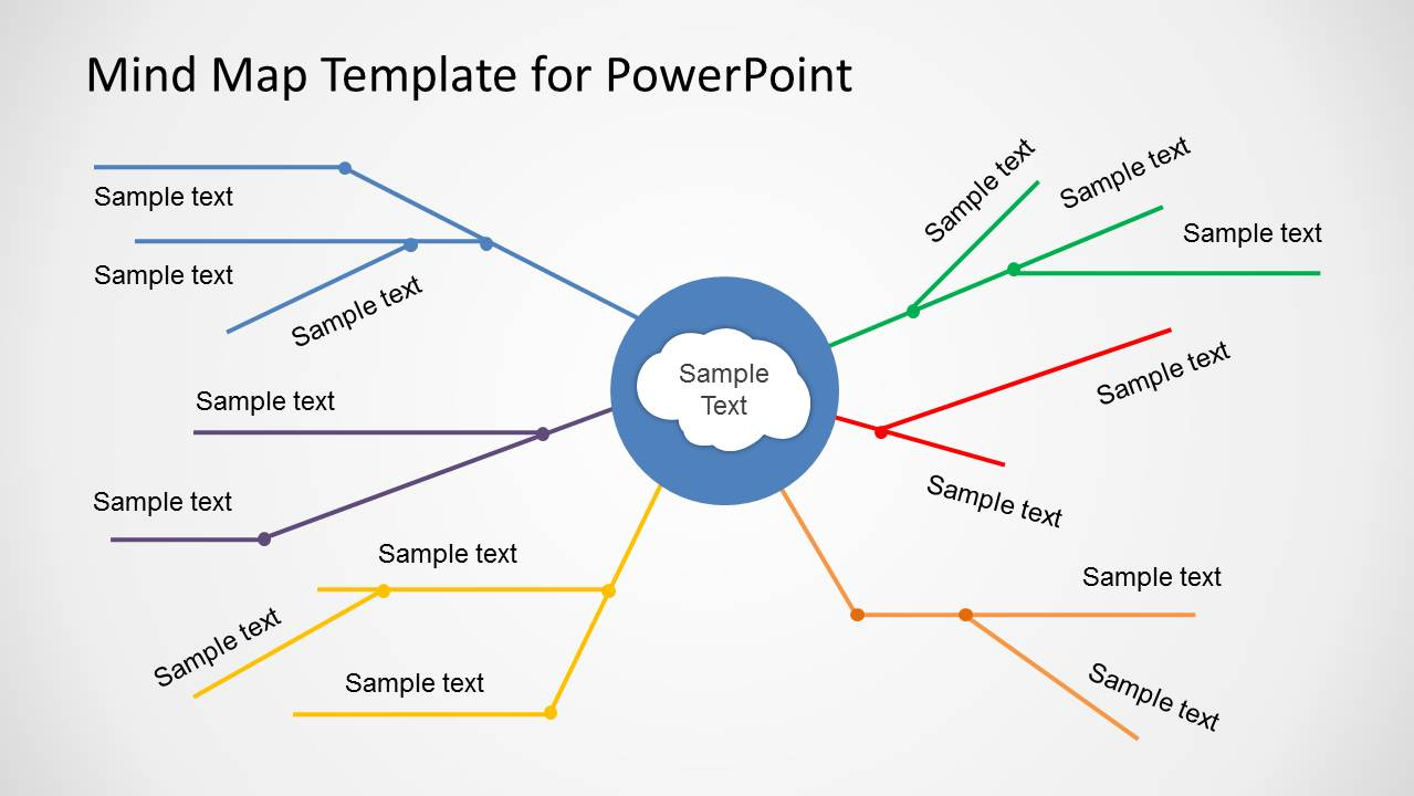 Simple mind map template for powerpoint slidemodel for Mind map template powerpoint free download