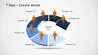 7 step circular arrow diagram for powerpoint slidemodel 7 step circular arrow diagram for powerpoint is a presentation template containing a circular arrow design that can be used as a platform to include ccuart Gallery