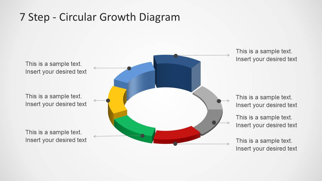 7 Step Circular Growth Diagram For Powerpoint