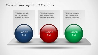 Comparison PowerPoint Slide Layout with 3 Items