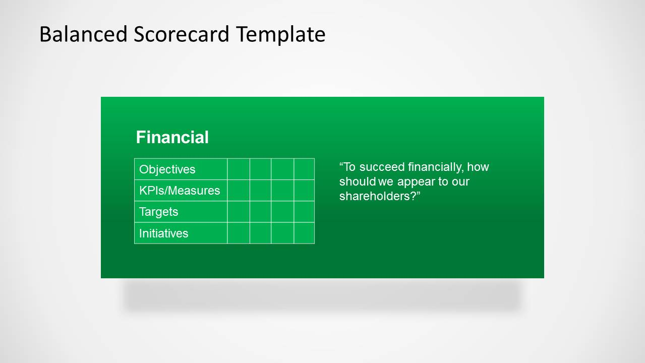 Balanced Scorecard Financial Perspective for PowerPoint