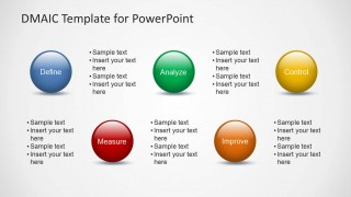 Dmaic template for powerpoint slidemodel dmaic template for powerpoint is a presentation template containing multiple dmaic process slide designs dmaic stands for define measure analyze toneelgroepblik Image collections
