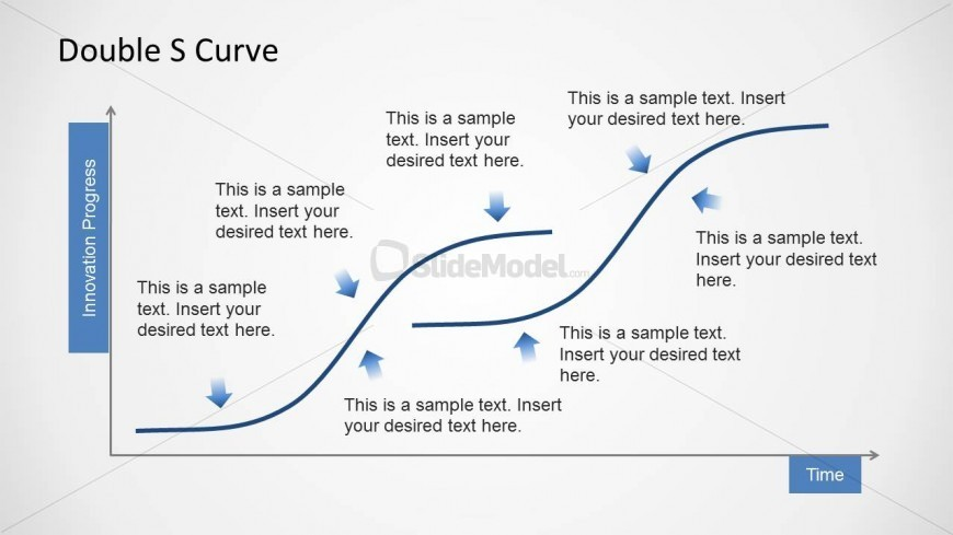 Curve slide design template for PowerPoint presentations with editable ...