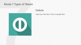 Defects Muda Waste Type PowerPoint Slide