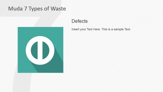 Defects Muda Waste Type PowerPoint Slide