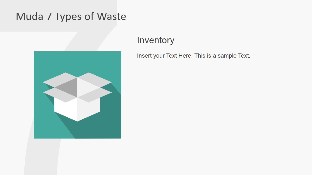 PowerPoint Box Clipart Inventory Muda Waste Type Metaphor