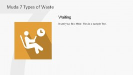 Waiting PowerPoint Icon Metaphor for Seven Muda Waste Types