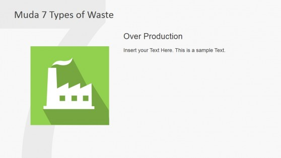 Over Production Clipart Slide for Muda Waste Type