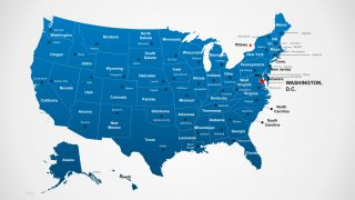 PowerPoint Templates Maps US with States Labels