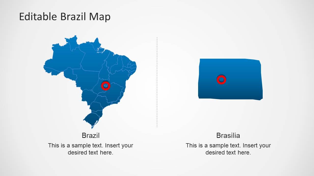 Editable Brazil Map Template For Powerpoint Slidemodel