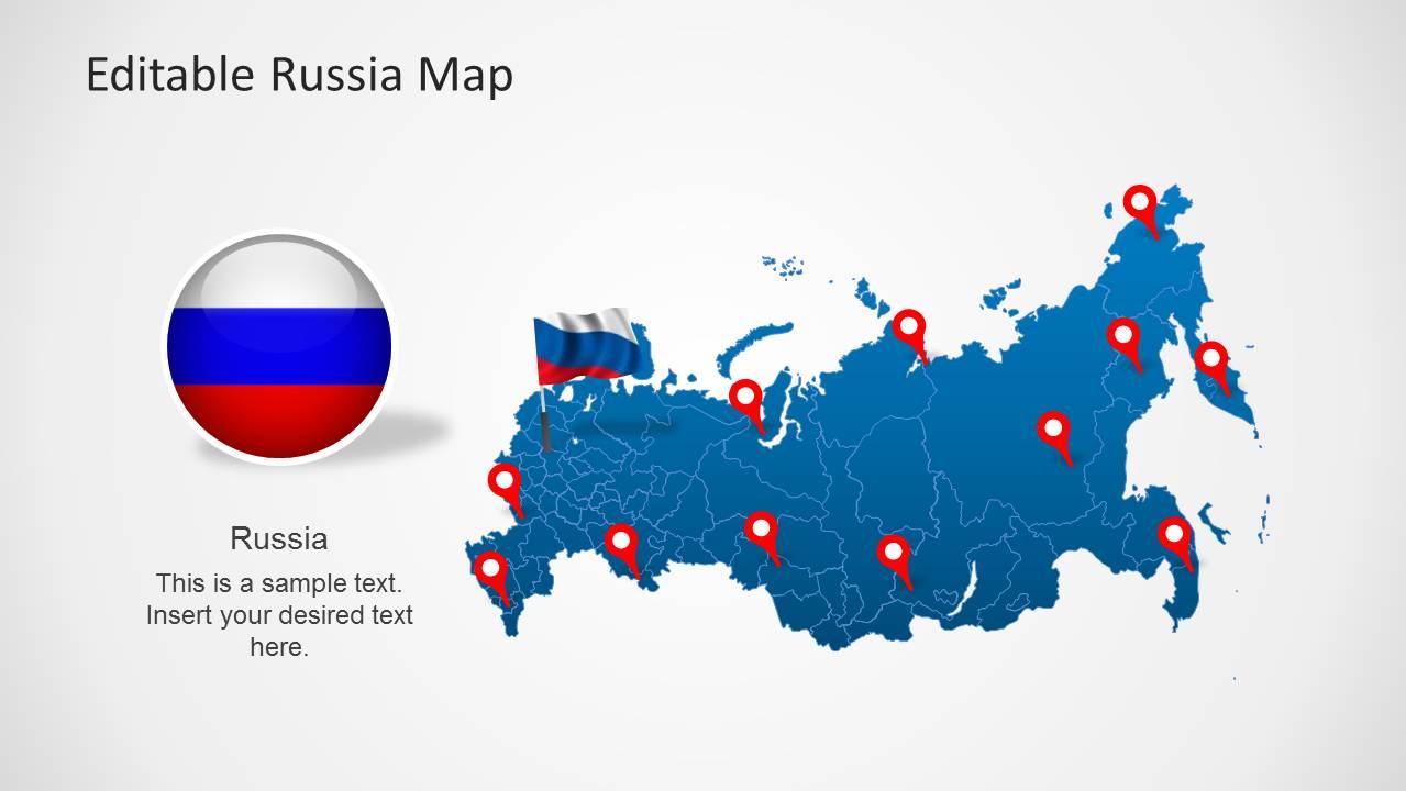 Editable russia map template for powerpoint slidemodel editable russia map template for powerpoint toneelgroepblik Choice Image
