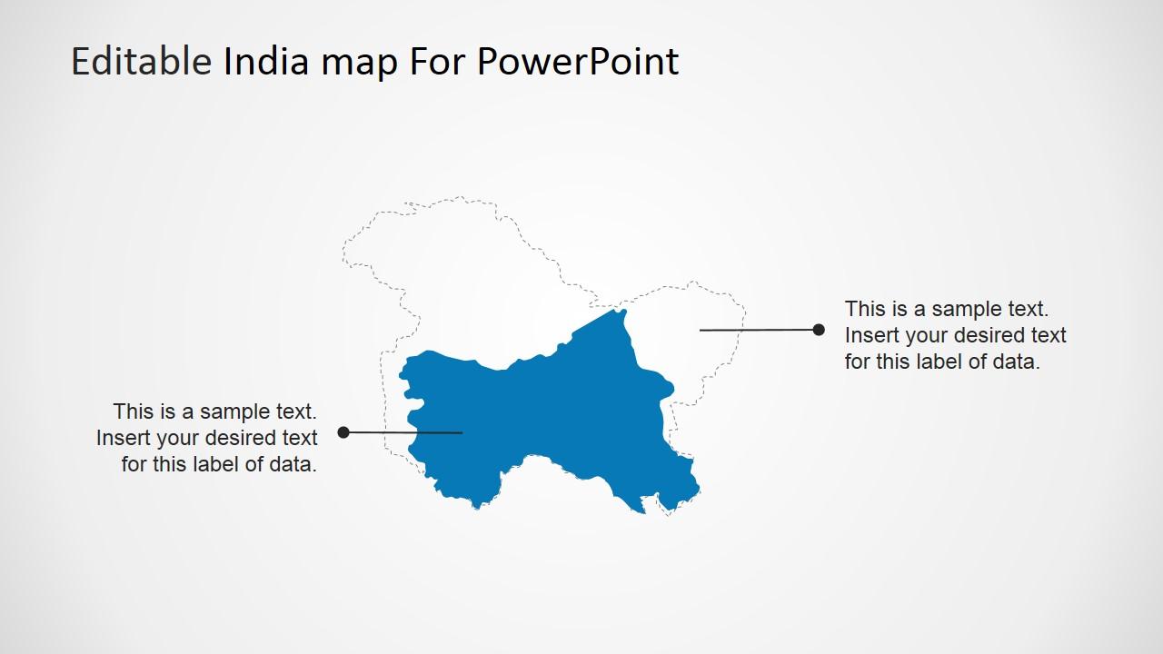 Editable India Map Template for PowerPoint - SlideModel