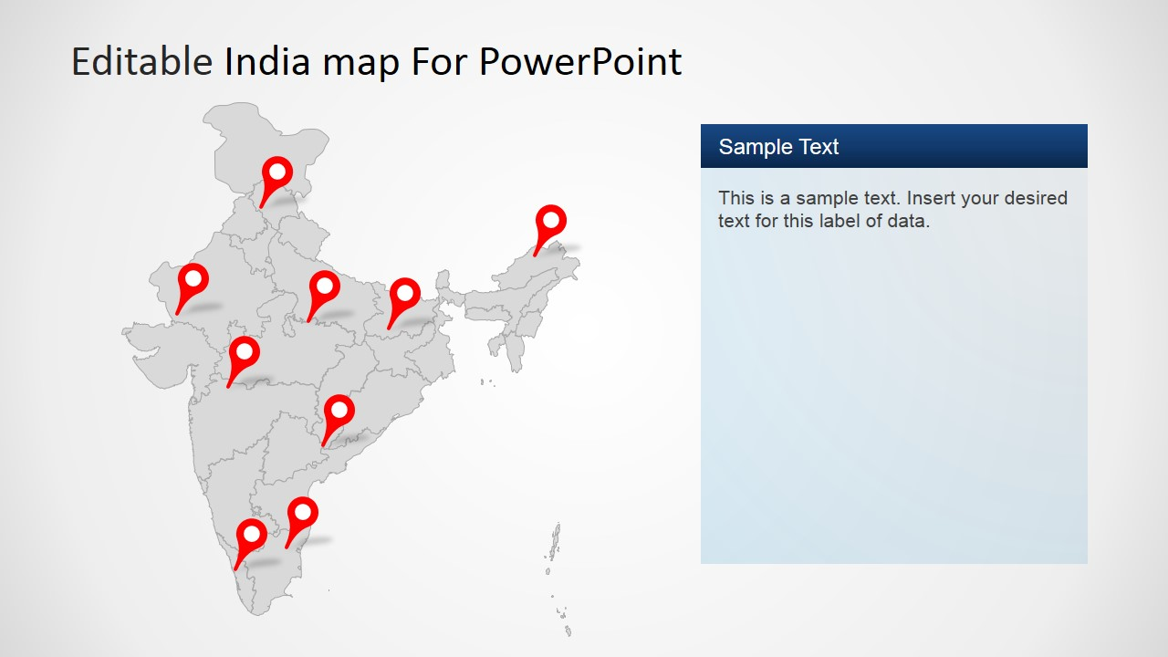 editable india map template for powerpoint