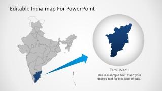 Editable india map template for powerpoint slidemodel toneelgroepblik Gallery