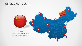 PowerPoint Template of China Map