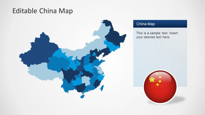 Editable PowerPoint Map of China
