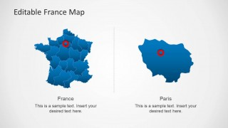 Editable france map template for powerpoint slidemodel editable france map template for powerpoint provides a comprehensive map of france with all major regions of the country available in the form of editable toneelgroepblik Gallery