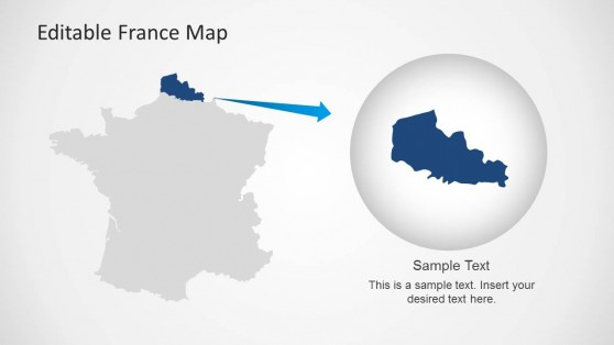PowerPoint Map of France with State Highlight