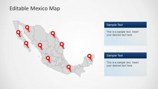 Editable mexico map template for powerpoint slidemodel editable mexico map template for powerpoint this powerpoint template provides and editable map for mexico with all administrative districts laid out in the toneelgroepblik Choice Image