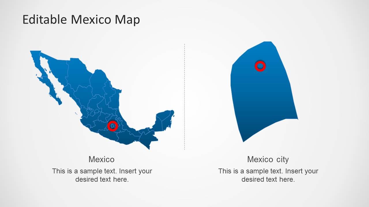 Editable mexico map template for powerpoint slidemodel toneelgroepblik Gallery