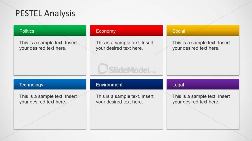 6 Pestel Component Slide Design For Powerpoint - Slidemodel