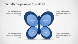 Matrix Style Butterfly Diagram Template for PowerPoint