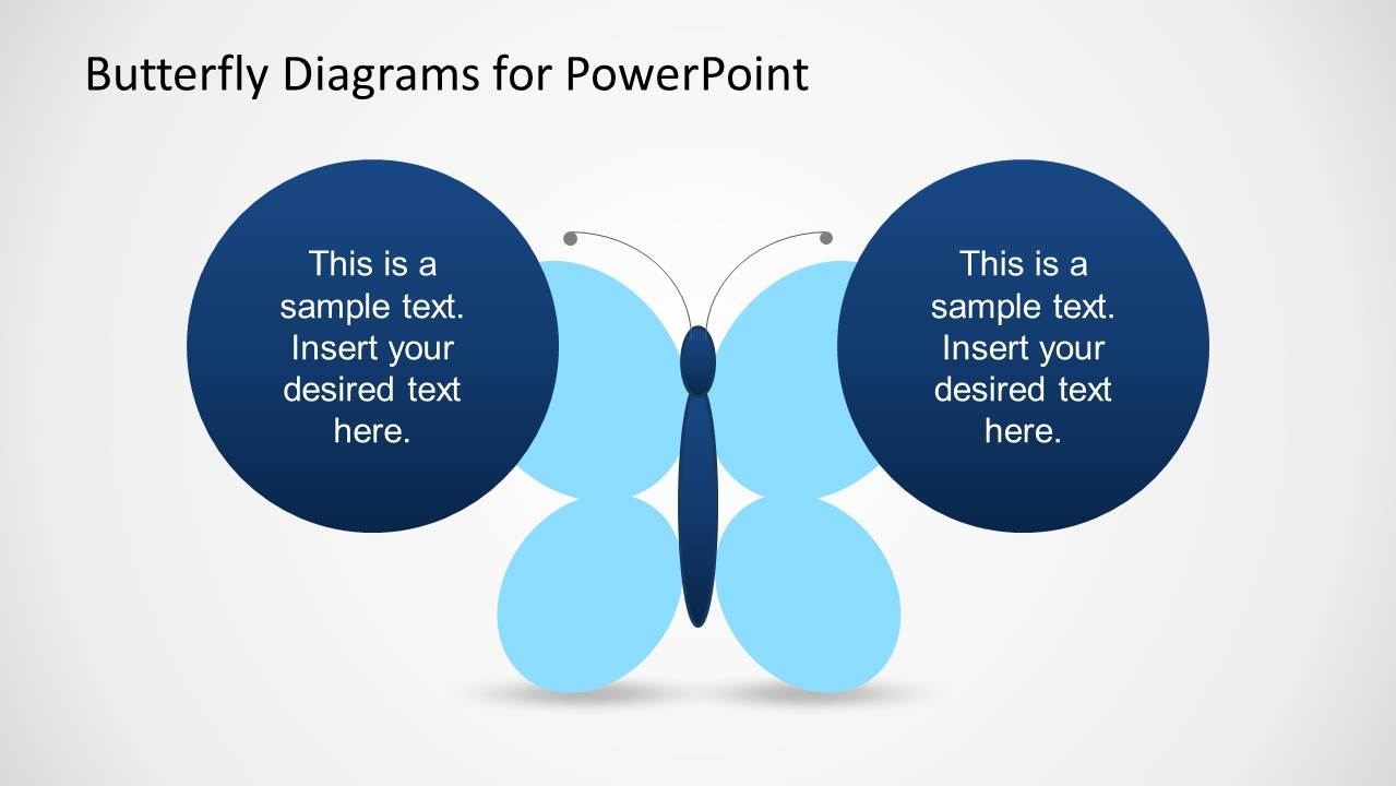 Creative Butterfly Diagrams For Powerpoint