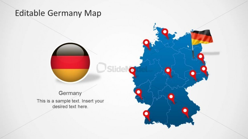 PowerPoint Map of Germany