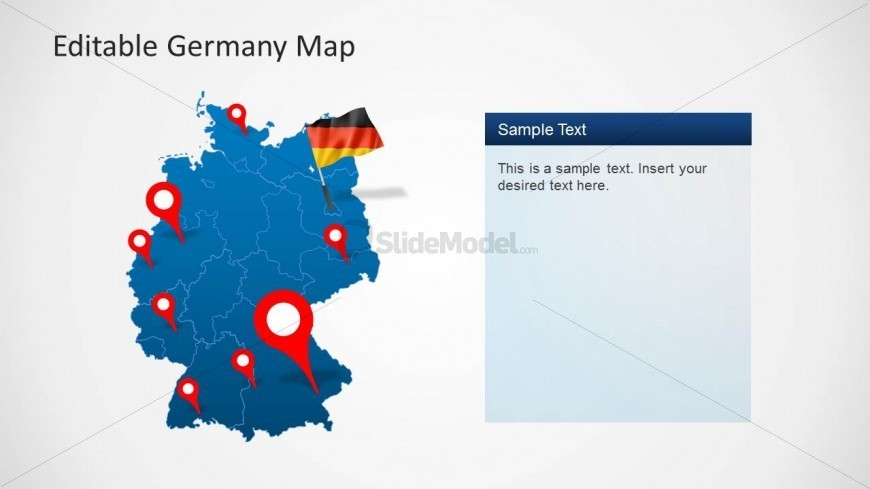 PPT Template of Germany Map