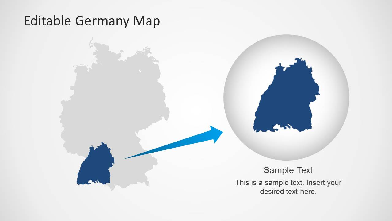 Editable germany map template for powerpoint slidemodel map of germany with state powerpoint template toneelgroepblik Images