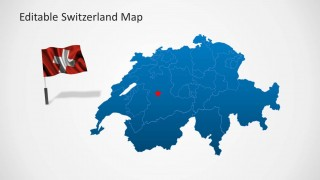 Switzerland Flag & Map Template for PowerPoint
