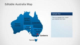 Australia PPT Map with Canberra Capital Marker